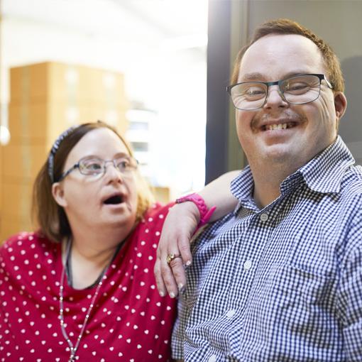 Menschen mit Behinderung bei der Arbeit